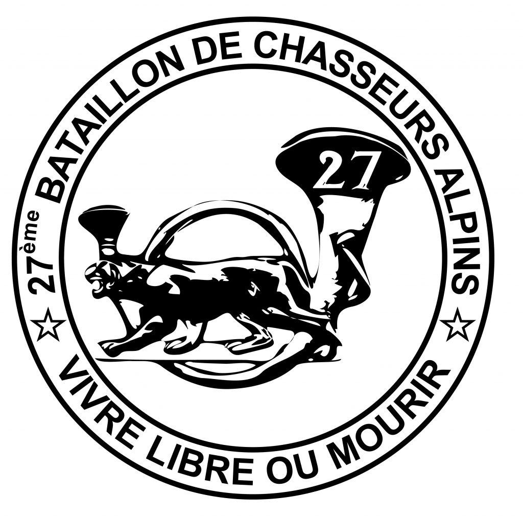 Logo du 27e bataillon de chasseurs alpins - Vivre libre ou mourir