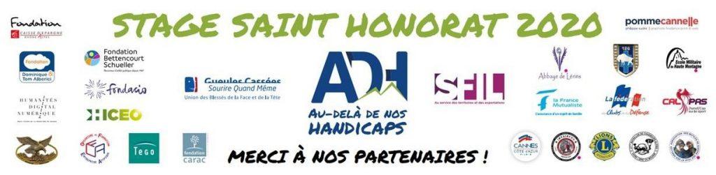 Logos des partenaires du stage Saint Honorat 2020 - Gestion des émotions